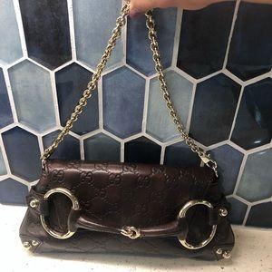 Gucci Horsebit Clutch - Guccissima Leather